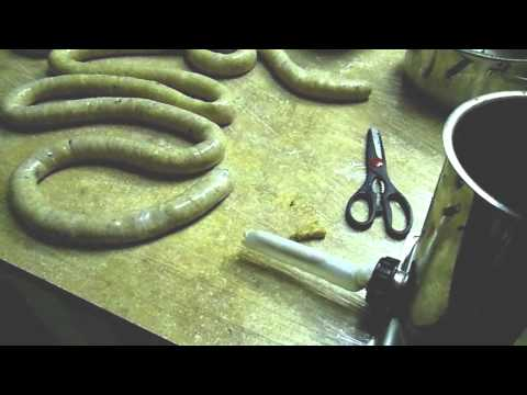 How To Make Homemade Chicken Sausage (part 7 Of 8) stuffing The Casings video