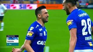 Gol de Robinho Corinthians 0 x 1 Cruzeiro   Copa do Brasil