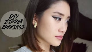 DIY EASY ZIPPER EARRINGS | Michelle Nguyen
