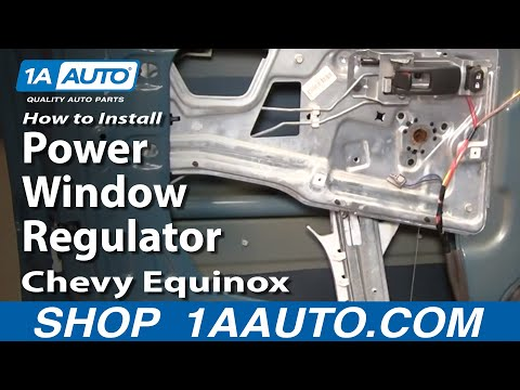 How To Install Replace Power Window Regulator Chevy Equinox 05-09 1AAuto.com