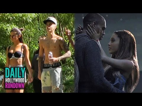 Justin & Selena Gomez's Sexy Vegas Trip - Ariana Grande Cuddles with Chris Brown in Video (DHR)