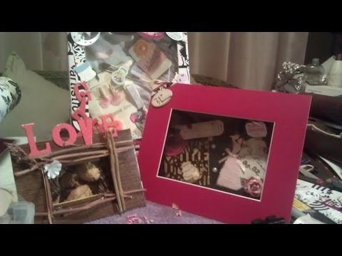 DIY shadowbox idea how to 3D picture frame  YouTube