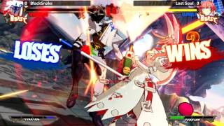 GGXrd @ TSB Invasion of EC - Blacksnake (Venom) vs Lost Soul (Elphelt) [720p/60fps]