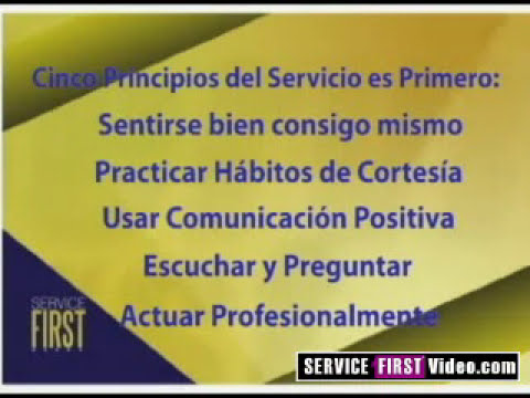 Video 12: Servicio de calidad total