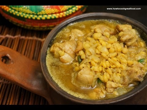 Ethiopian Food - Chicken & Yellow Peas Recipe Doro Be Misir Amharic & English Injera Kitfo Mitmita
