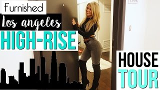 Fully Furnished Los Angeles High-Rise   House Tour   Vlog