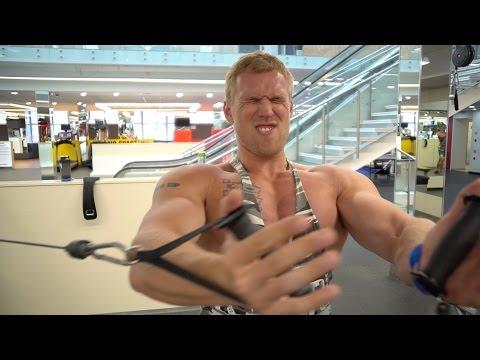 Тренировка груди, плеч и спины.