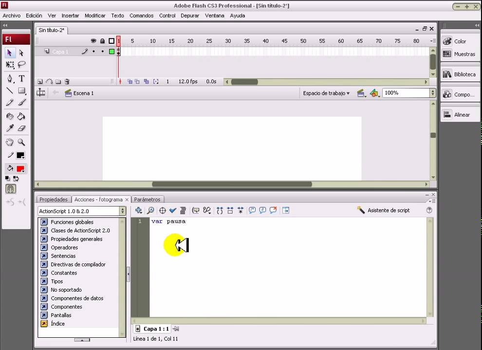 flash tutorial sonido: