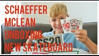 Schaeffer Mclean unboxing a new Cruiser Deck