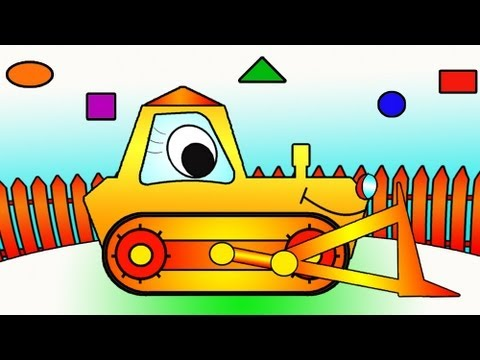 Мультики про машины бульдозер