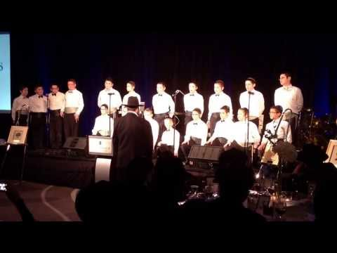 Cheder Lubavitch Boys Choir-Cheder Dinner 2014      First song - 02/19/2014