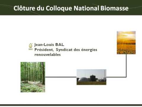 Colloque National Biomasse 2013 - Conclusion C. LE PICARD J-L. BAL