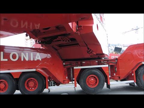 Im Einsatz Liebherr LTM 1750 9.1 und Betonpumpe