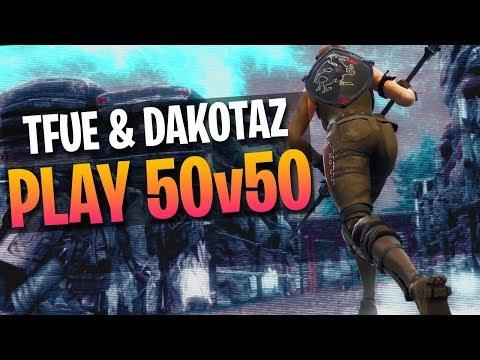 2v20 CLUTCH w/ Dakotaz! 50v50 v2 Gameplay (Fortnite Battle Royale)