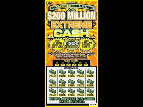 SCRATCH OFF $200 MILLION EXTREME CASH LOTTERY TICKET, WINNING TICKET, JAY!!!!!!!