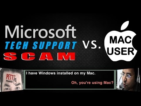 Microsoft Tech Support Scam gets Owned by Mac User