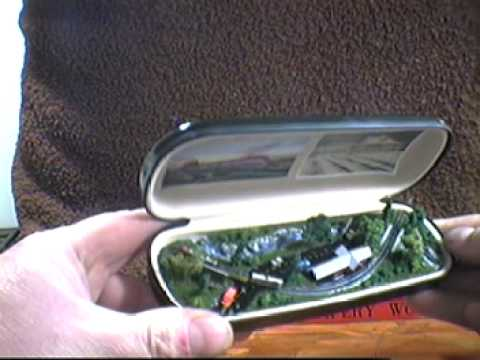 Tiny Trains Model Railroad in a Glasses Case