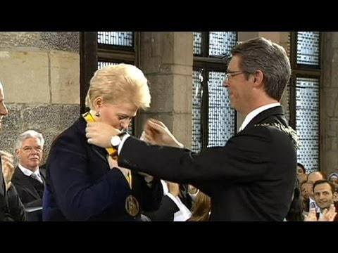 Lithuania's President Grybauskaite gets Aachen's Charlemagne Prize