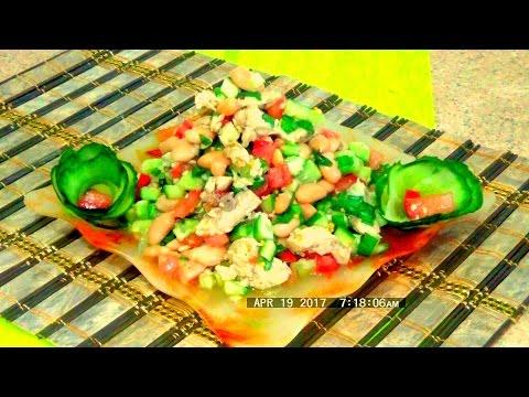 Салат горбуша консервированная и огурец