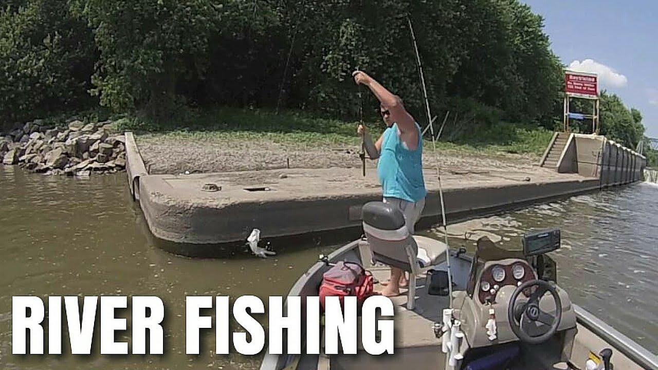 White Bass Fishing    Illinois River 2016