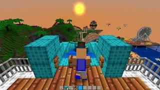 UPIN IPIN LIBURAN DI PULAU MEWAH SULTAN, NYOBAIN 10 WAHANA EXTREME!! - Minecraft Lucu