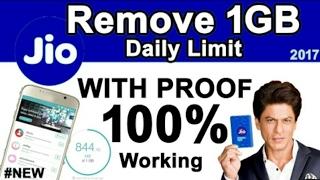 Remove Jio limit one GB to unlimited   Jio   Jio unlimited    Jio free 100 GB  