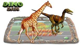 DINO DAN : DINO DUELS #24 - Compsognathus VS Giraffe @Make For Kids