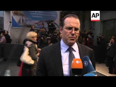 EU finance ministers meet to address challenges of European financial crisis