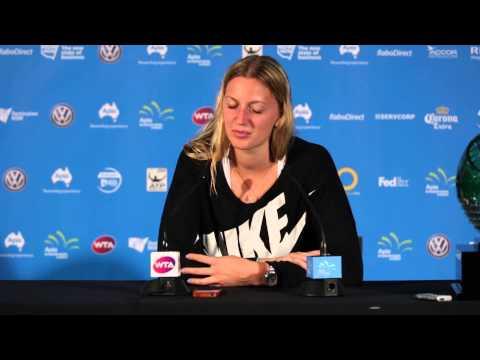 Petra Kvitova press conference (F) - Apia International Sydney 2015