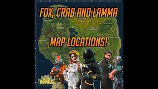 CRAB, FOX AND LAMMA LOCATIONS In Fortnite Battle Royale! All Animal Quest Locations!