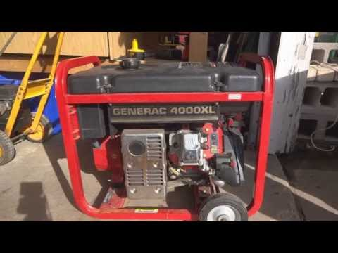 Generac 4000XL Generator - Solution to common problem - Won't stay running