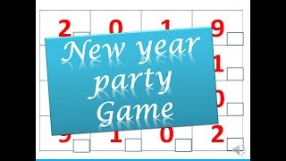 welcome 2019 Punctuality game for New Year party // games for new year get together