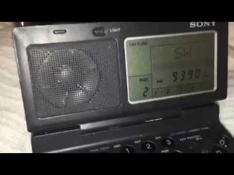 Radio Thailand 9390 KHz very good indoor signal Sony ICF-SW100