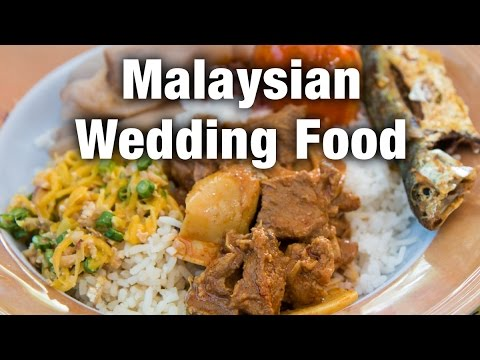 Food at a Malaysian Wedding and a Surprise Durian