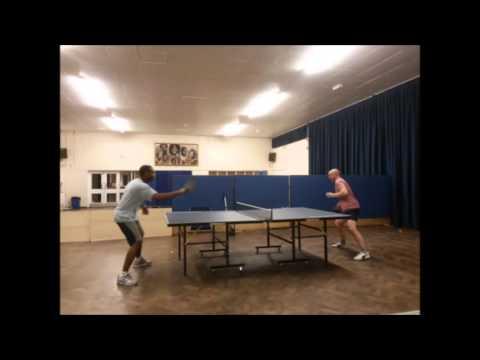 Working with Wojciech. Silver Fox Edwards at Lewsey Table Tennis Club. Fri - 01-04-2016