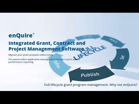 Introducing enQuire - Enterprise Grant Management Software