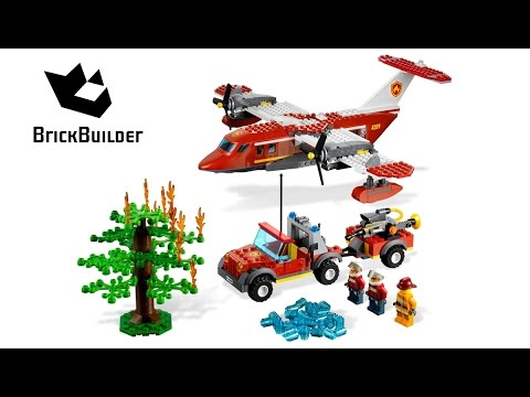 Lego City 4209 Fire Plane - Lego Speed Build