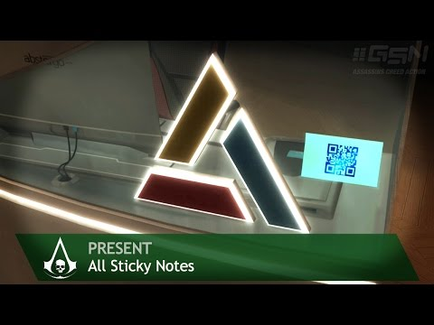 Assassin's Creed 4: Black Flag - Side Memories - All Sticky Notes
