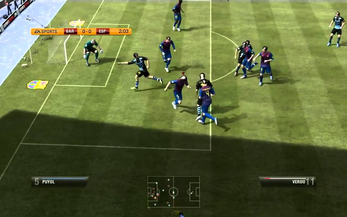 ГИГАНТСКИЕ футболисты в FIFA 12 , fifa 12 взлом виртуального футбо.