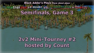 Count's 2v2 Mini-Tourney #2, SF - matreiuss+Count vs. Domantas+Shelty, G3 - Age of Mythology: TT