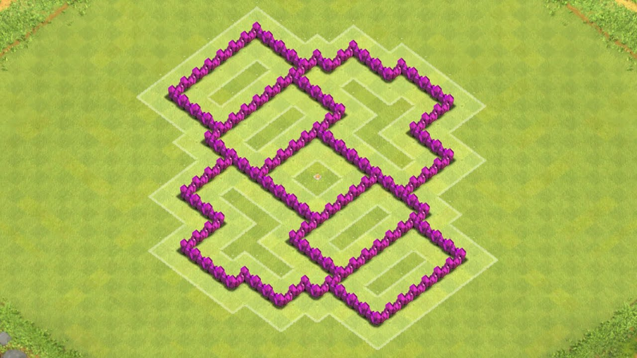 Clash of clans town hall 6 defense coc th6 best trophy base layout