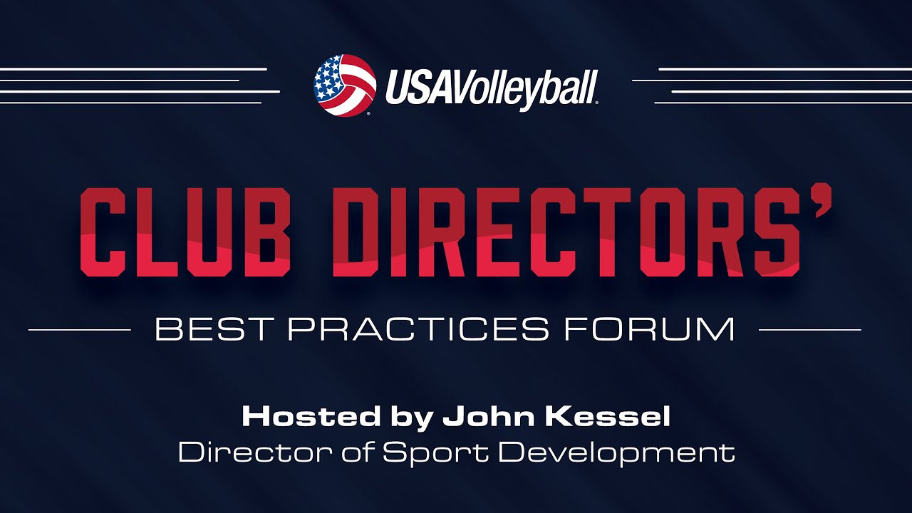 Tom Pingel - Club Directors' Best Practices Forum 2016 - USA Volleyball