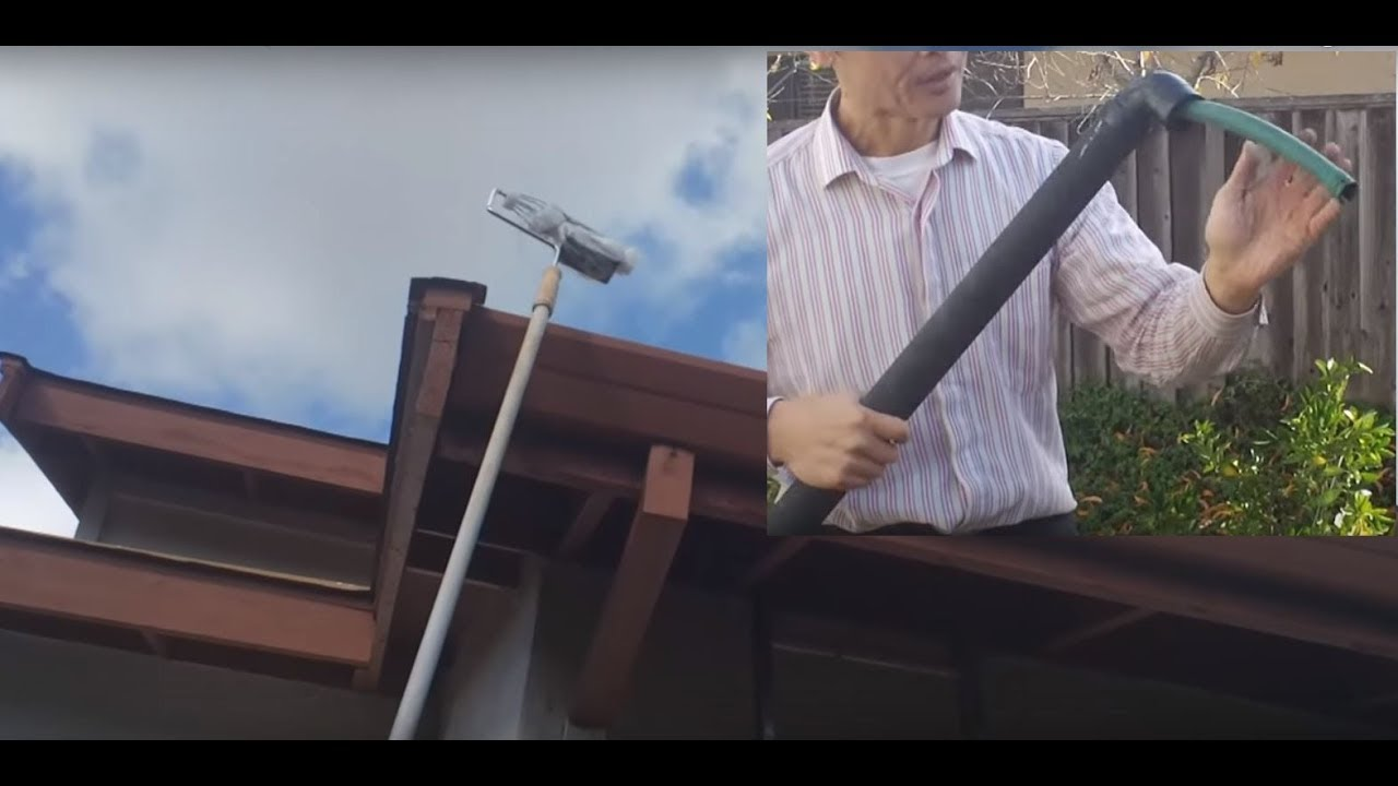 Cheap Gutter Cleaning Without Ladder Youtube