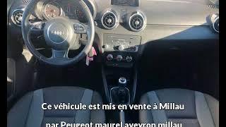 Audi a1 sportback occasion visible à Millau présentée par Peugeot maurel aveyron millau