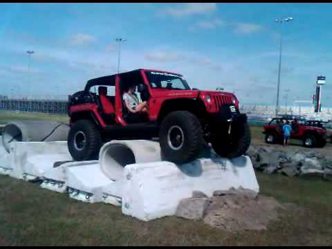 Jeep Beach 2010 Over the Cross Pipes