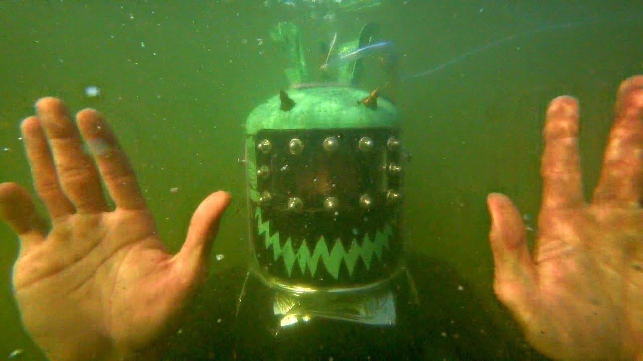 ✅Шлем-Батискаф из аквариума и плёнки