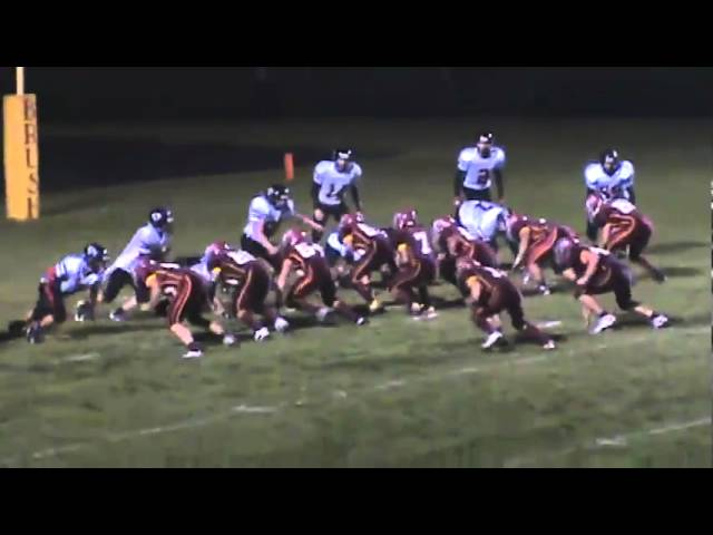 10-22-10 - Connor Weisser runs in into the end zone (Brush 20, Strasburg 7)