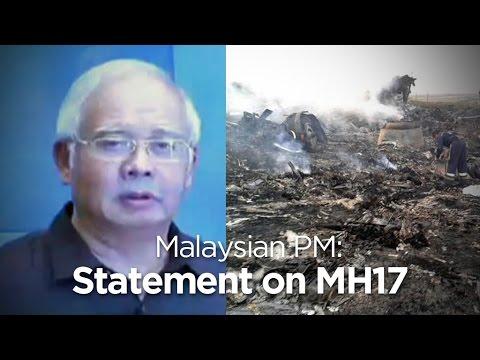 Malaysian PM Najib Razak on MH17