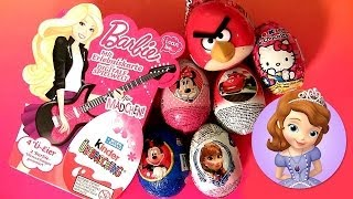 Barbie Kinder Surprise Easter Eggs Sofia Basket Minecraft Zombie Disney Princesses Frozen 3D Cars2