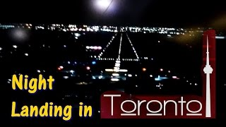 Night landing in Toronto